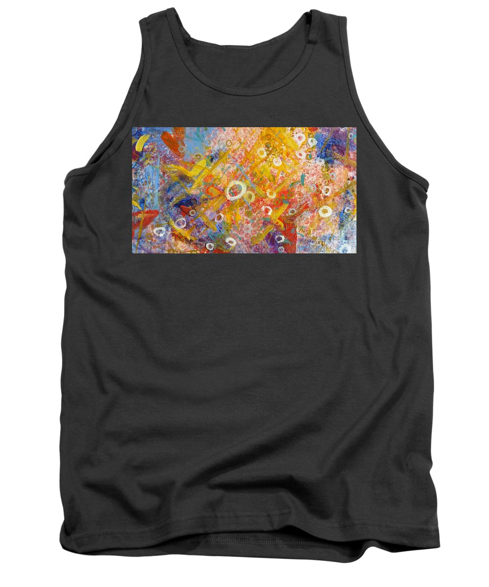 Abstract Tank Top featuring the painting The Degrees Of Color 2 by Sherry Harradence
