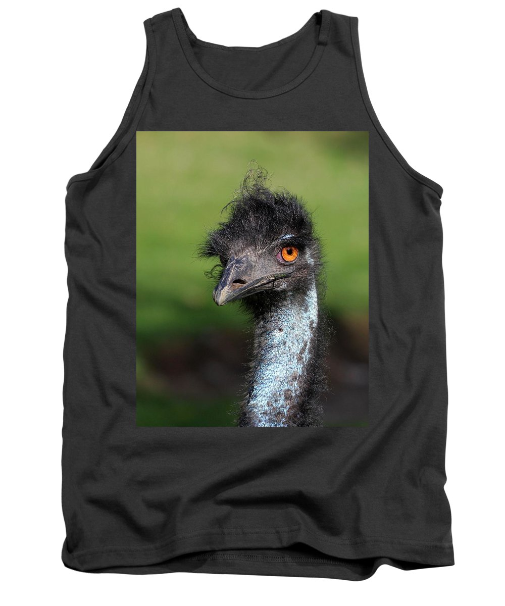 Animal Tank Top featuring the photograph The Emu by Davandra Cribbie