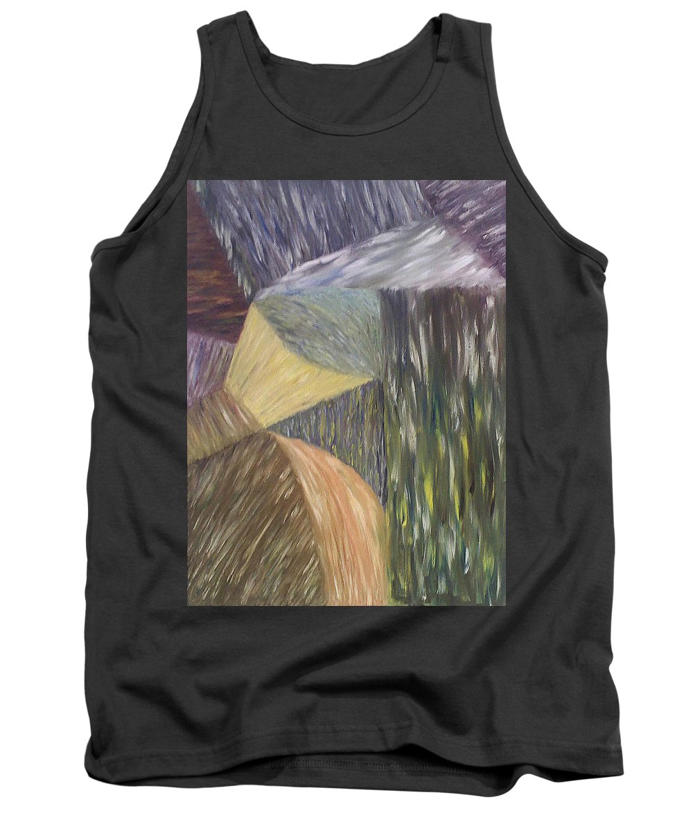 Falls Tank Top featuring the painting The Falling by Michael Benjamin