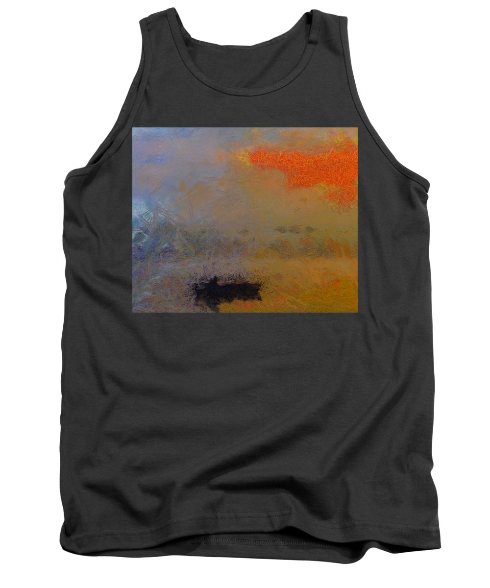 The Fisherman Tank Top featuring the painting The Fisherman by Dan Sproul