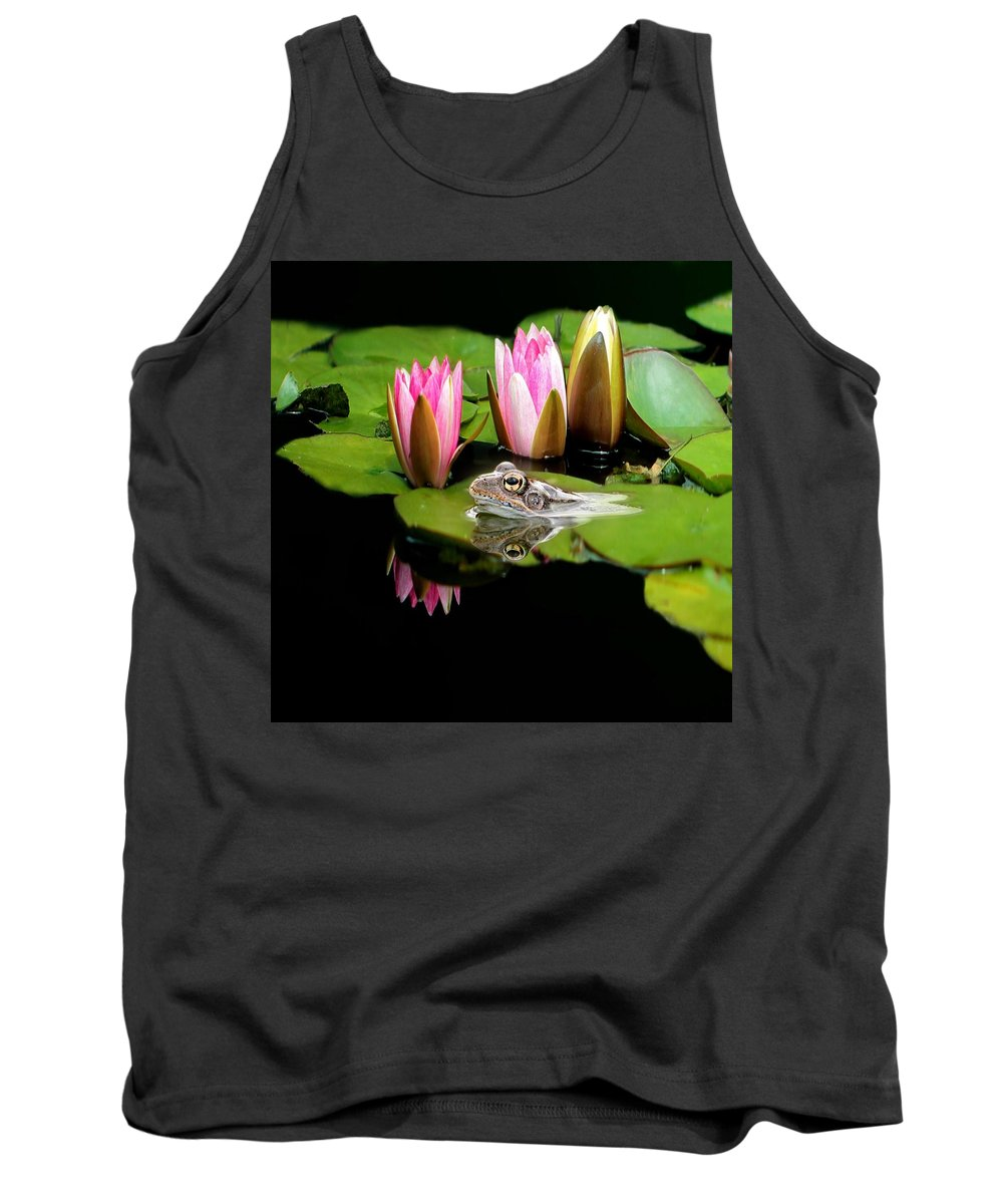 Toad Tank Top featuring the photograph The Frog by Heike Hultsch