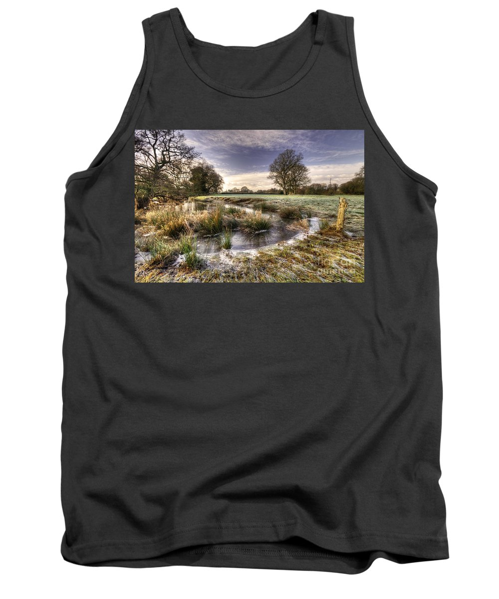 Frost Tank Top featuring the photograph the Frosty Field by Rob Hawkins