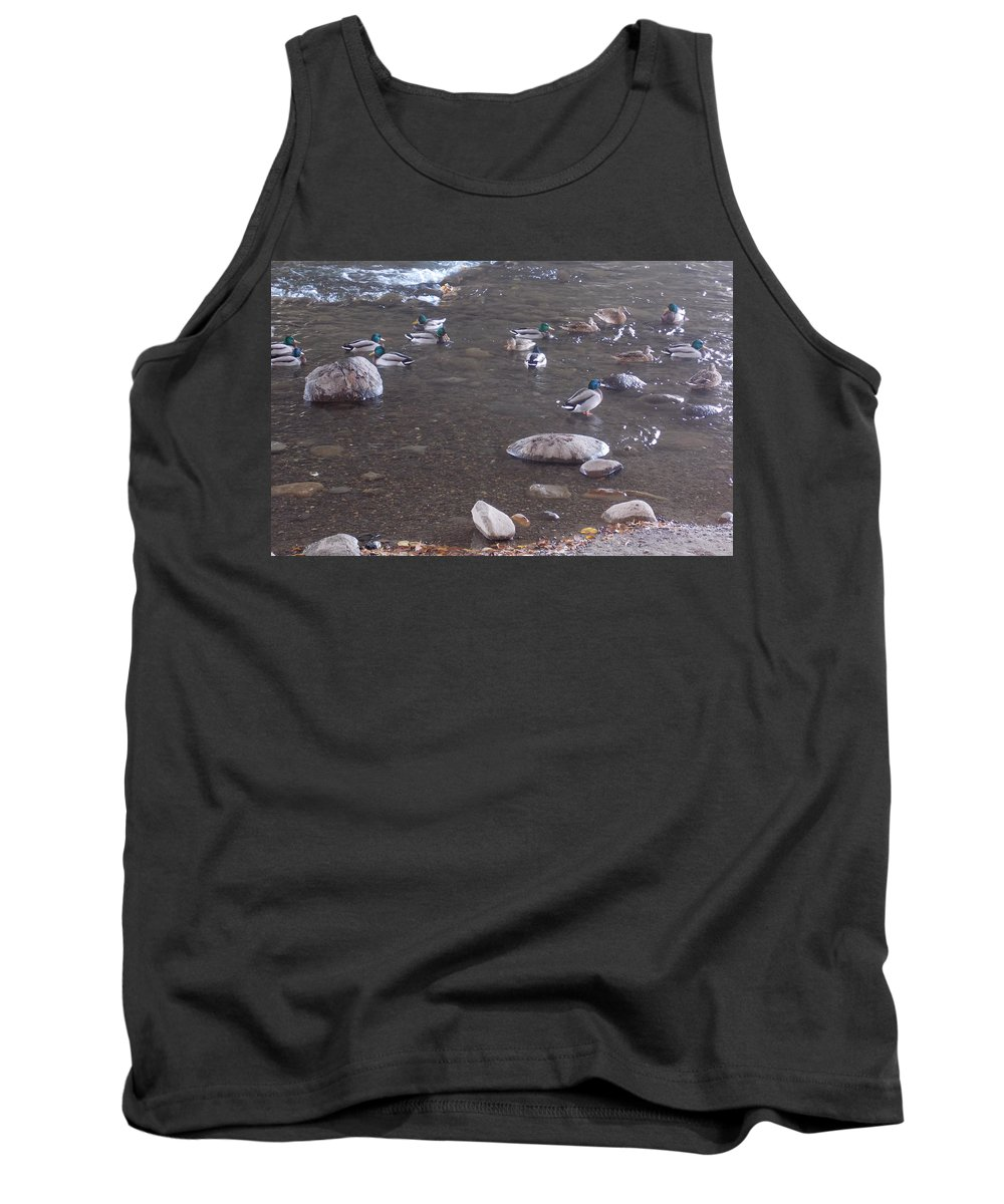 River Tank Top featuring the photograph The Gathering by Brent Dolliver