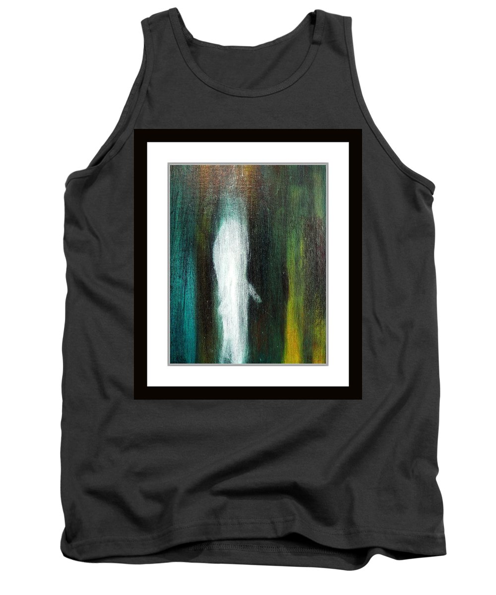 Abstract Tank Top featuring the painting The Ghost In You by Sue McElligott