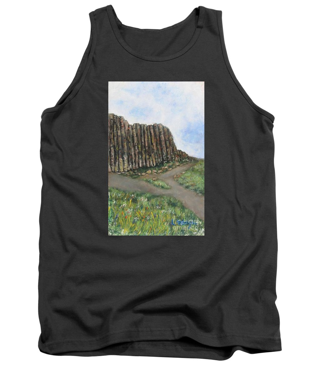 Giant's Causeway Tank Top featuring the painting The Giant's Causeway by Laurie Morgan