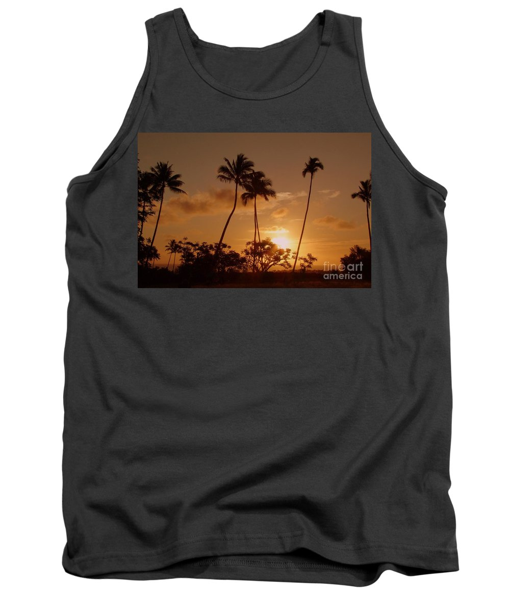 Sunset Tank Top featuring the photograph The Glow Of Sunset by Mary Deal