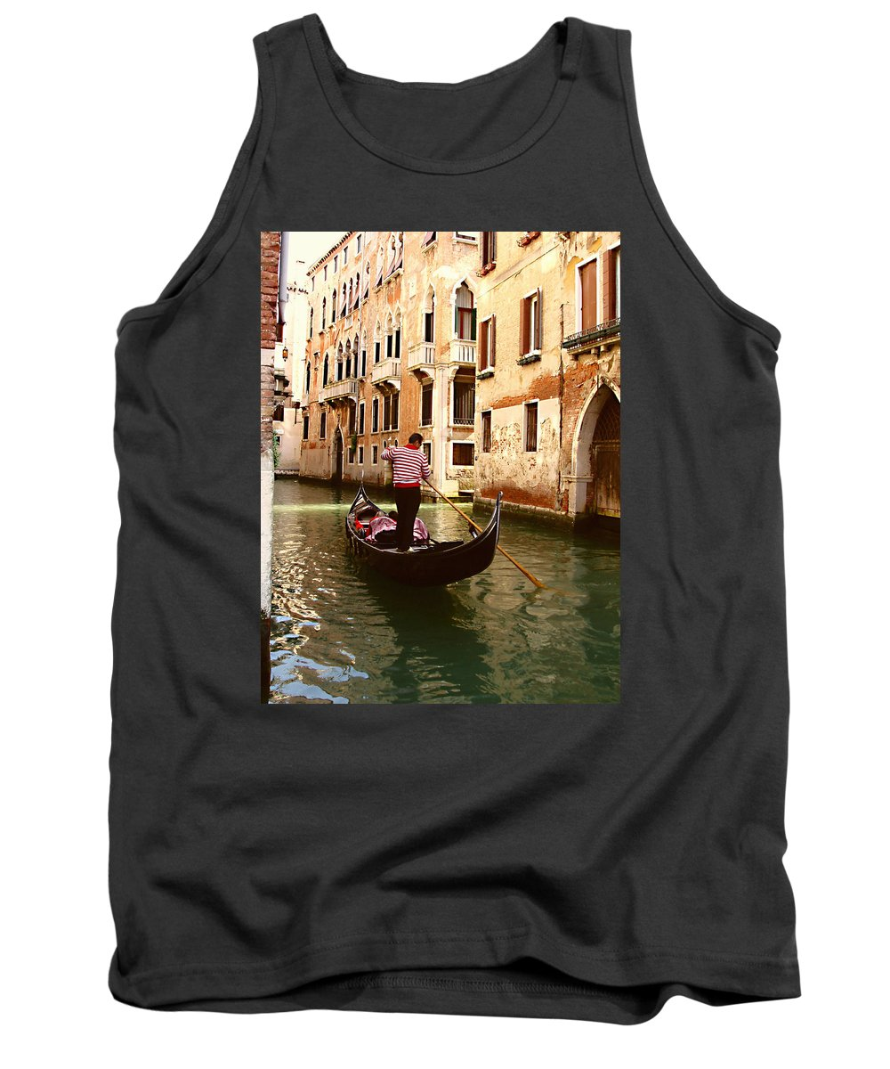 The Gondolier Tank Top featuring the photograph The Gondolier by Ellen Henneke