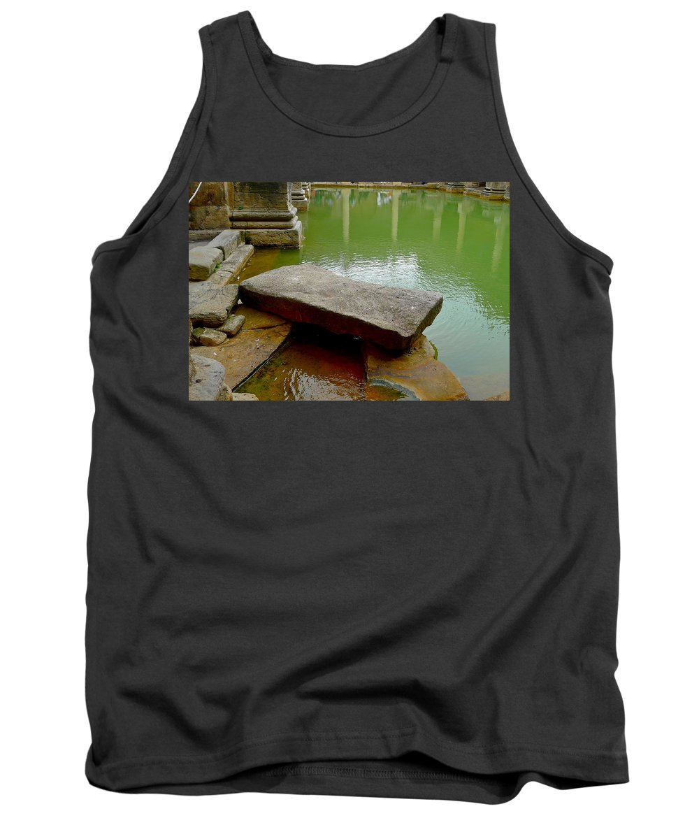 Bath Tank Top featuring the photograph The Great Bath At Bath by Denise Mazzocco