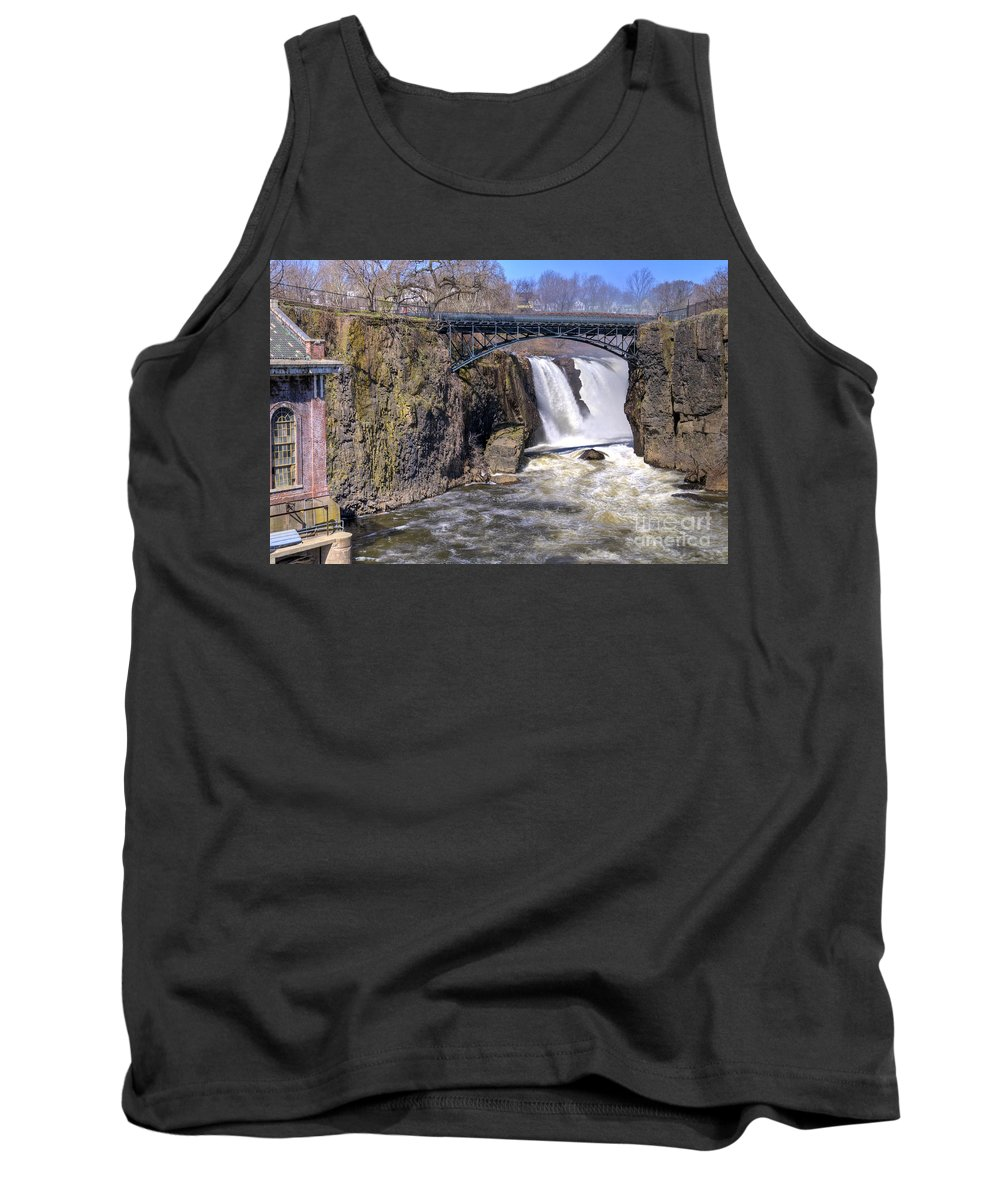 Great Falls Paterson Tank Top featuring the photograph The Great Falls by Anthony Sacco