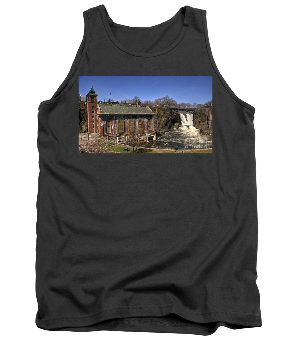 Great Falls Paterson Tank Top featuring the photograph The Great Falls In Paterson by Anthony Sacco