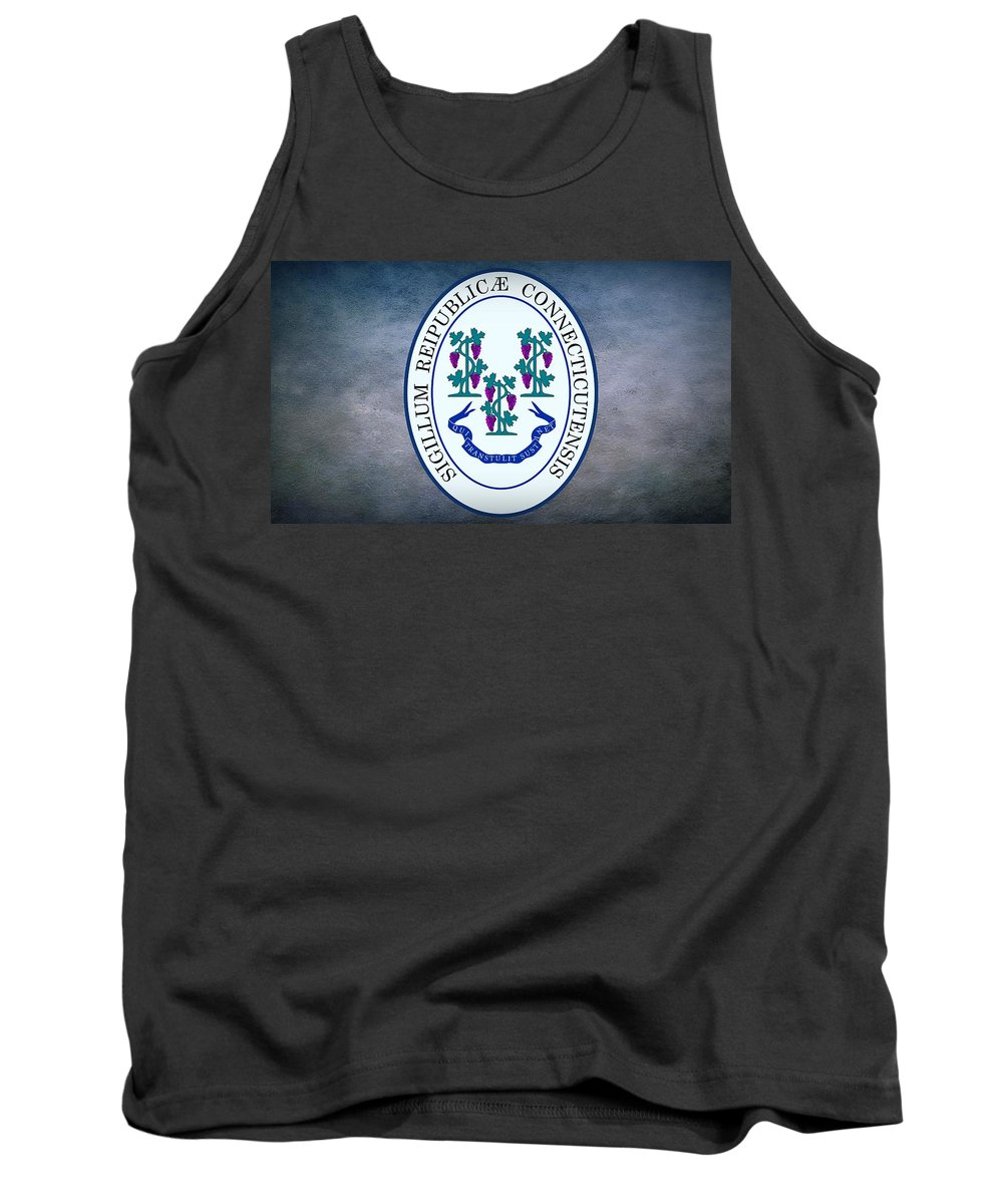 Connecticut Tank Top featuring the digital art The Great Seal Of The State Of Connecticut by Movie Poster Prints