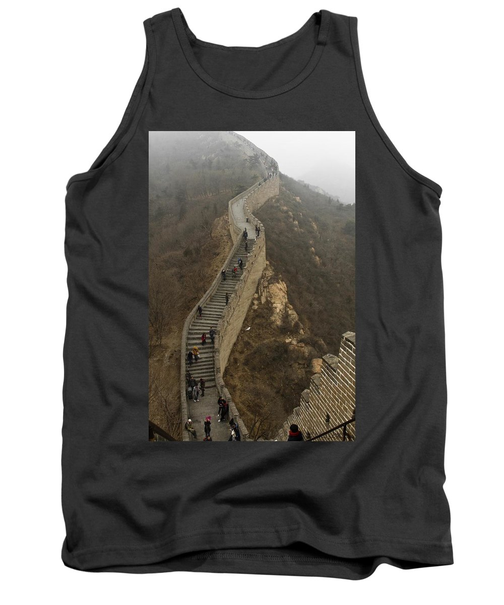 Great Wall Of China Tank Top featuring the photograph The Great Wall Of China At Badaling - 8 by Hany J