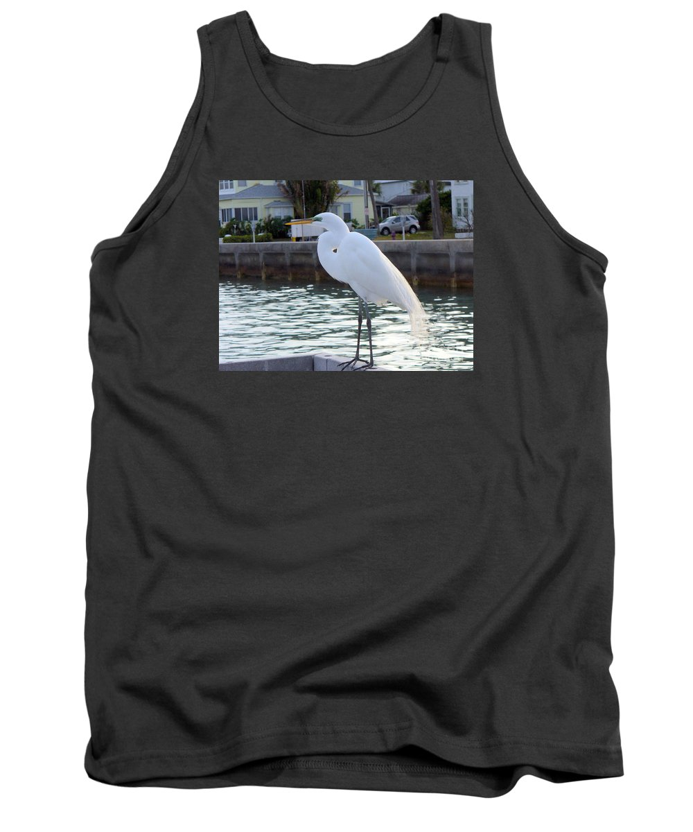 Egret Tank Top featuring the photograph The Great White Egret by Lingfai Leung