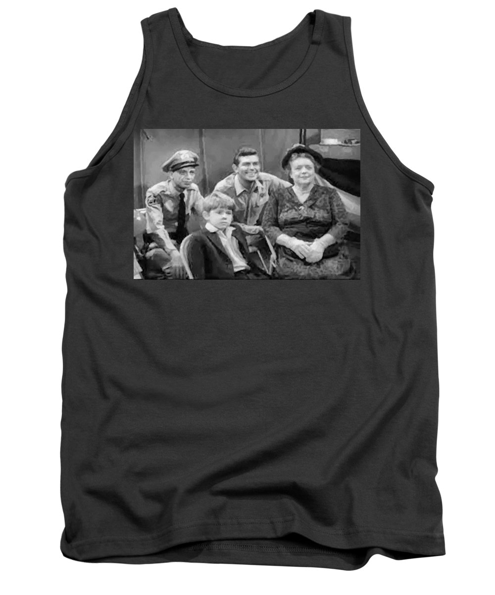 Andy Griffith Tank Top featuring the digital art The Griffith Household by Paulette B Wright