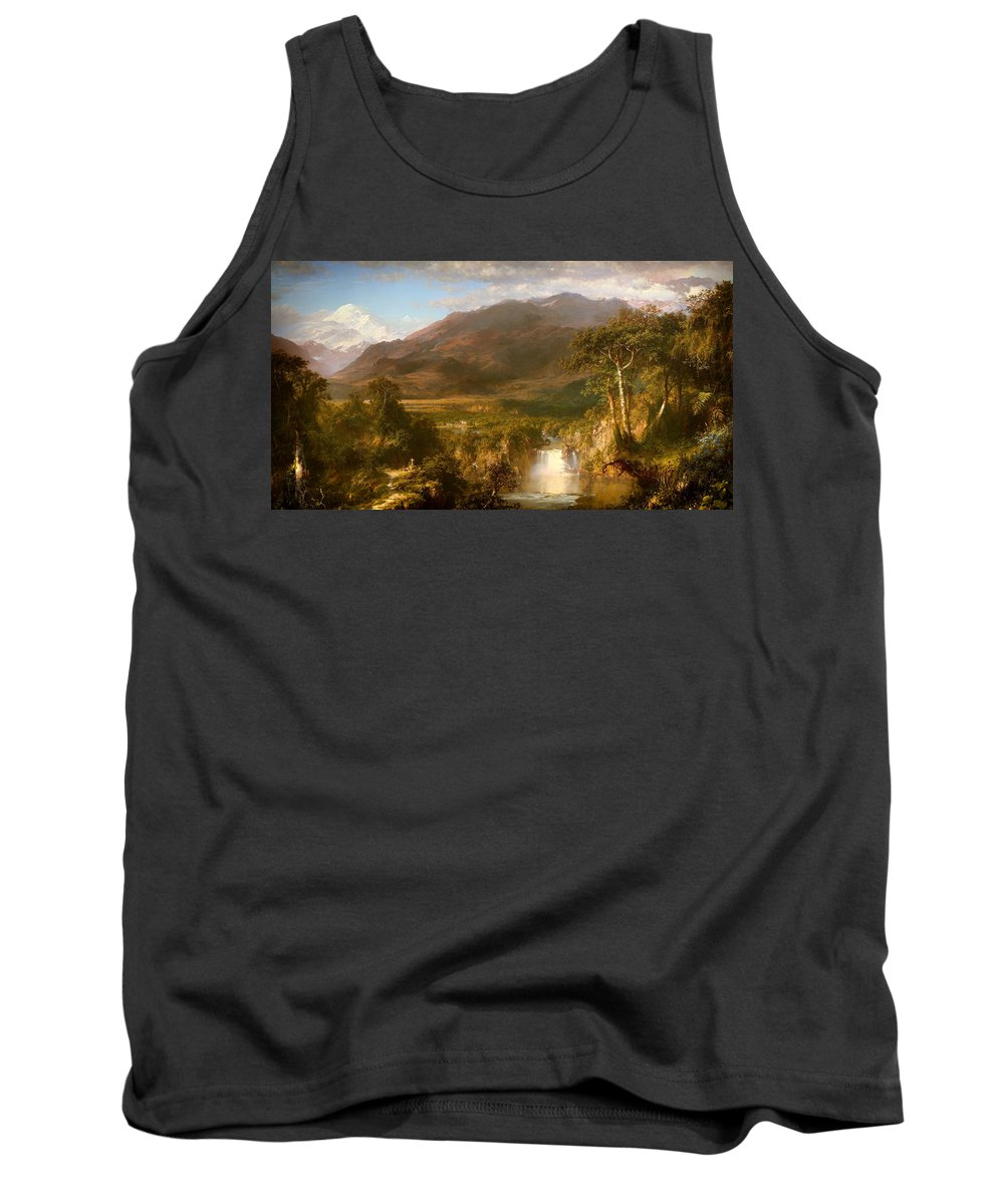 Painting Tank Top featuring the painting The Heart Of The Andes by Mountain Dreams