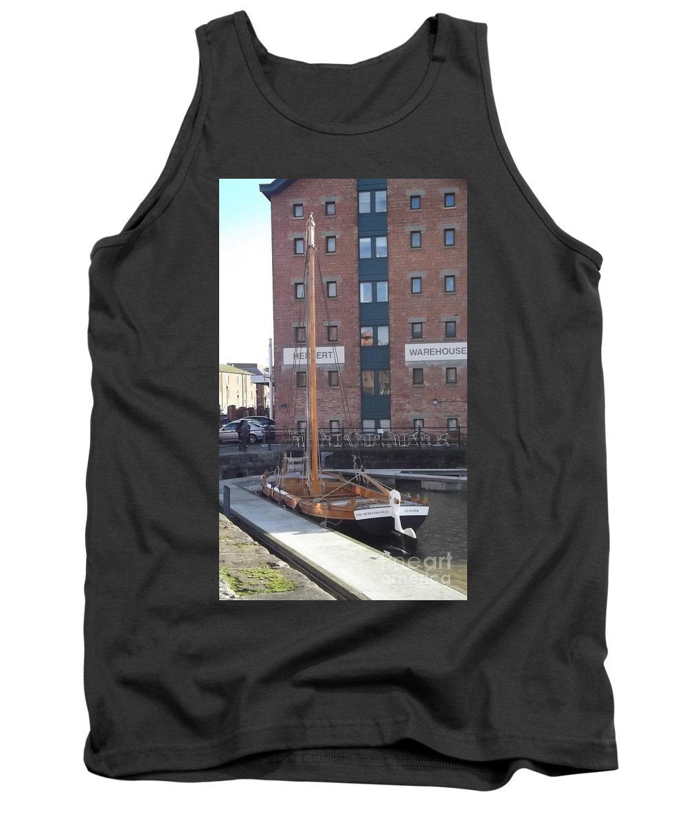 The Hereford Bull Tank Top featuring the photograph The Hereford Bull by John Williams