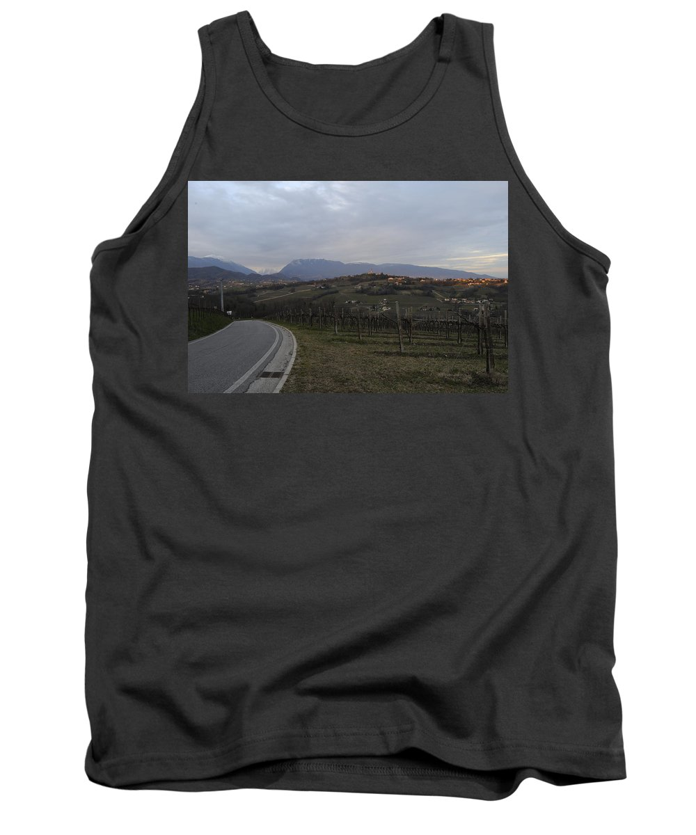 Wine Tank Top featuring the photograph The Hills Of The Wine by Salvatore Gabrielli