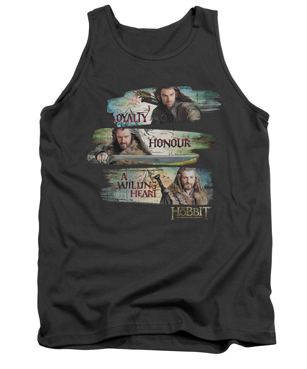 The Hobbit Tank Top featuring the digital art The Hobbit - Loyalty And Honour by Brand A