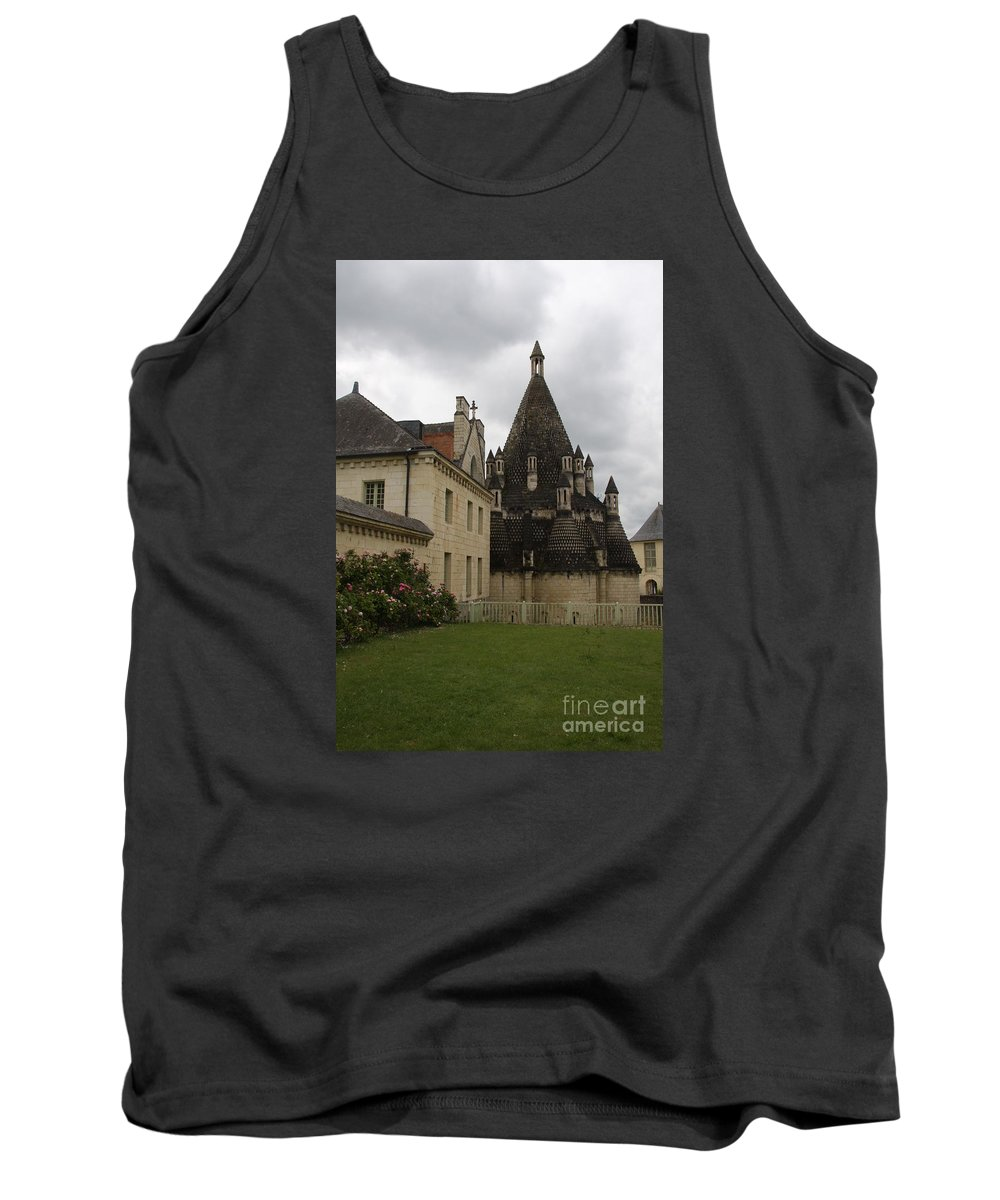 Kitchen Tank Top featuring the photograph The Kitchenbuilding - Abbey Fontevraud by Christiane Schulze Art And Photography