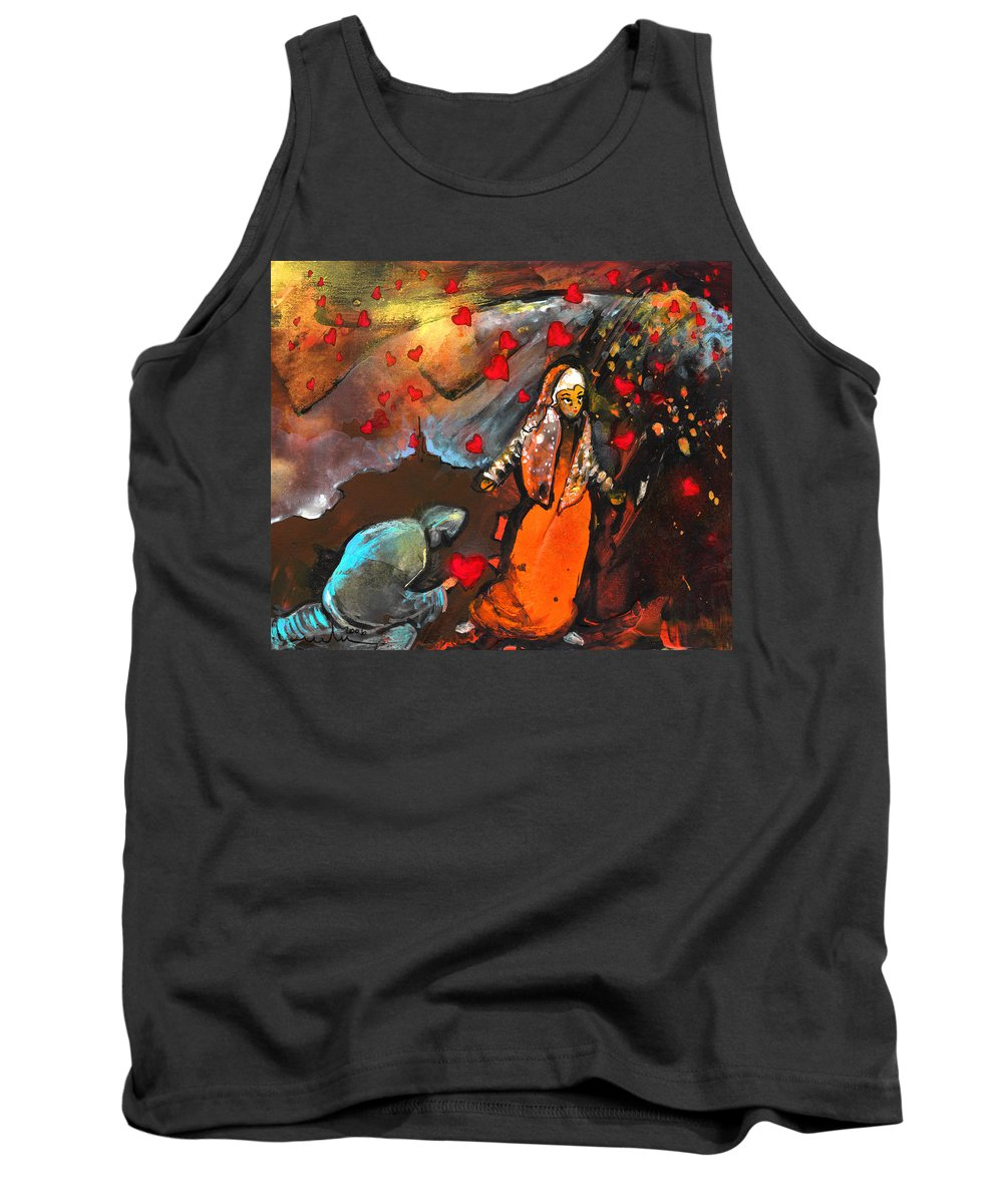 Valentine Tank Top featuring the painting The Knight Of Your Heart by Miki De Goodaboom