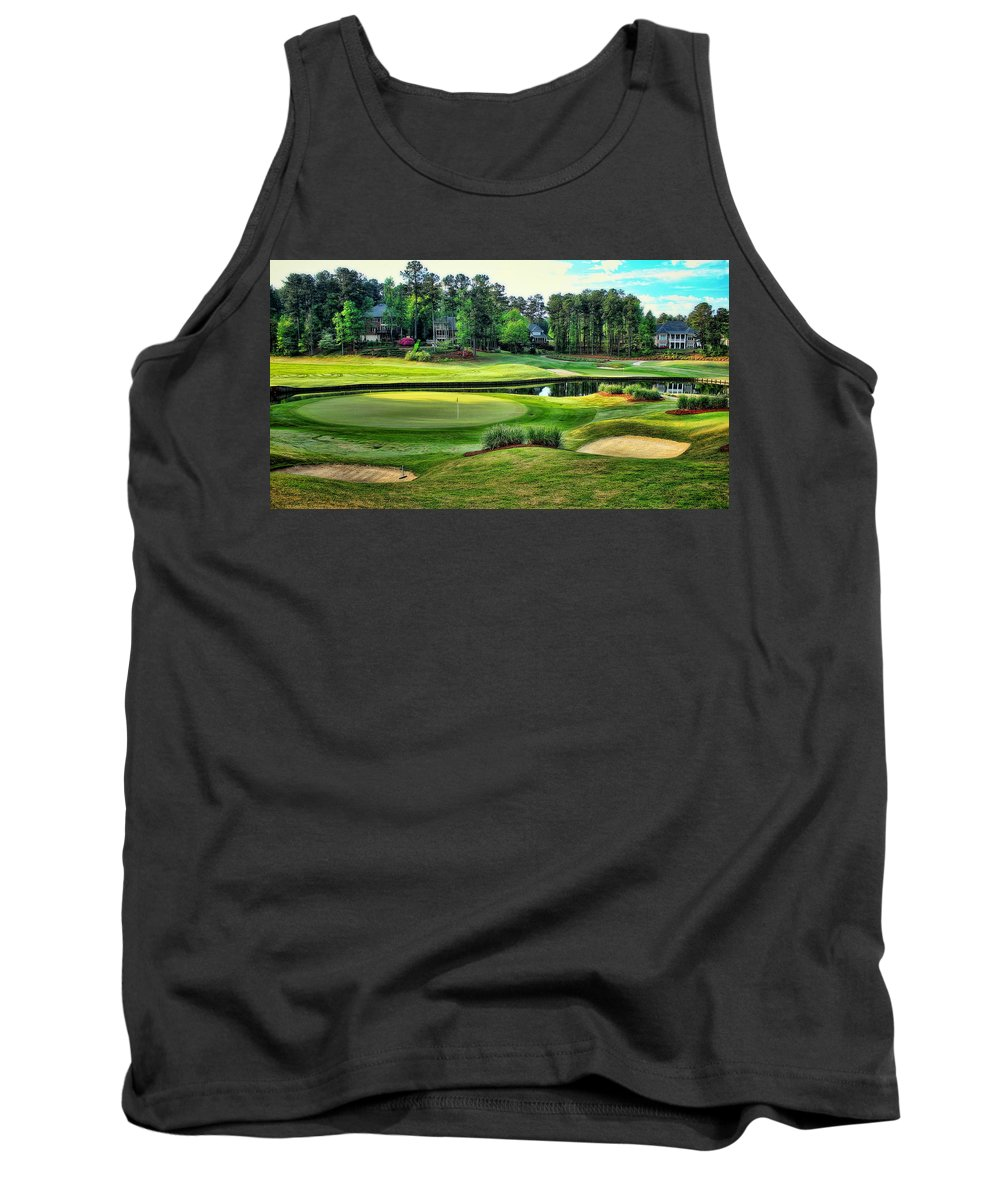Best Golf Tank Top featuring the photograph The Landing At Reynolds Plantation by Reid Callaway