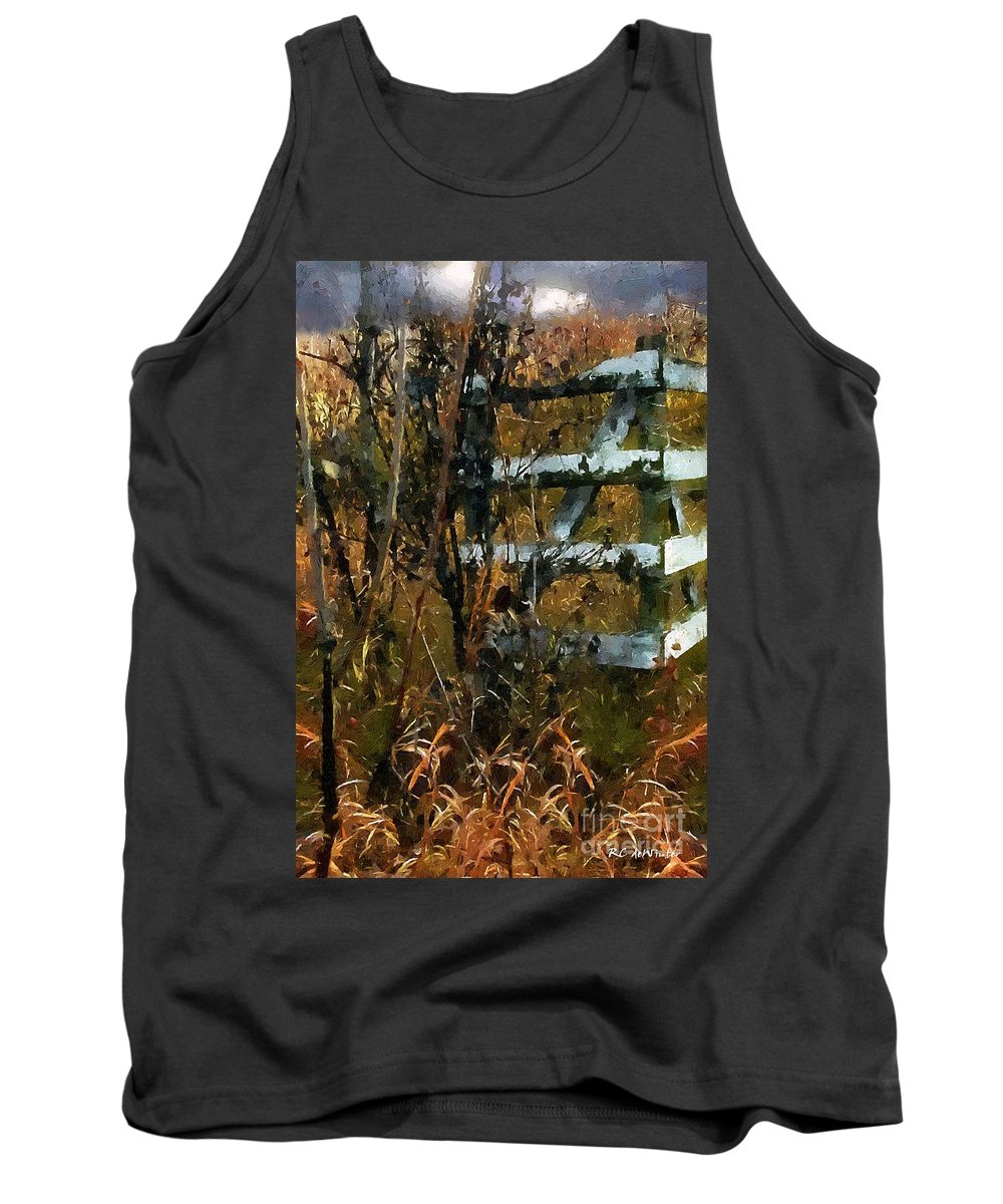 Autumn Tank Top featuring the painting The Last Of The Old Corral by RC DeWinter