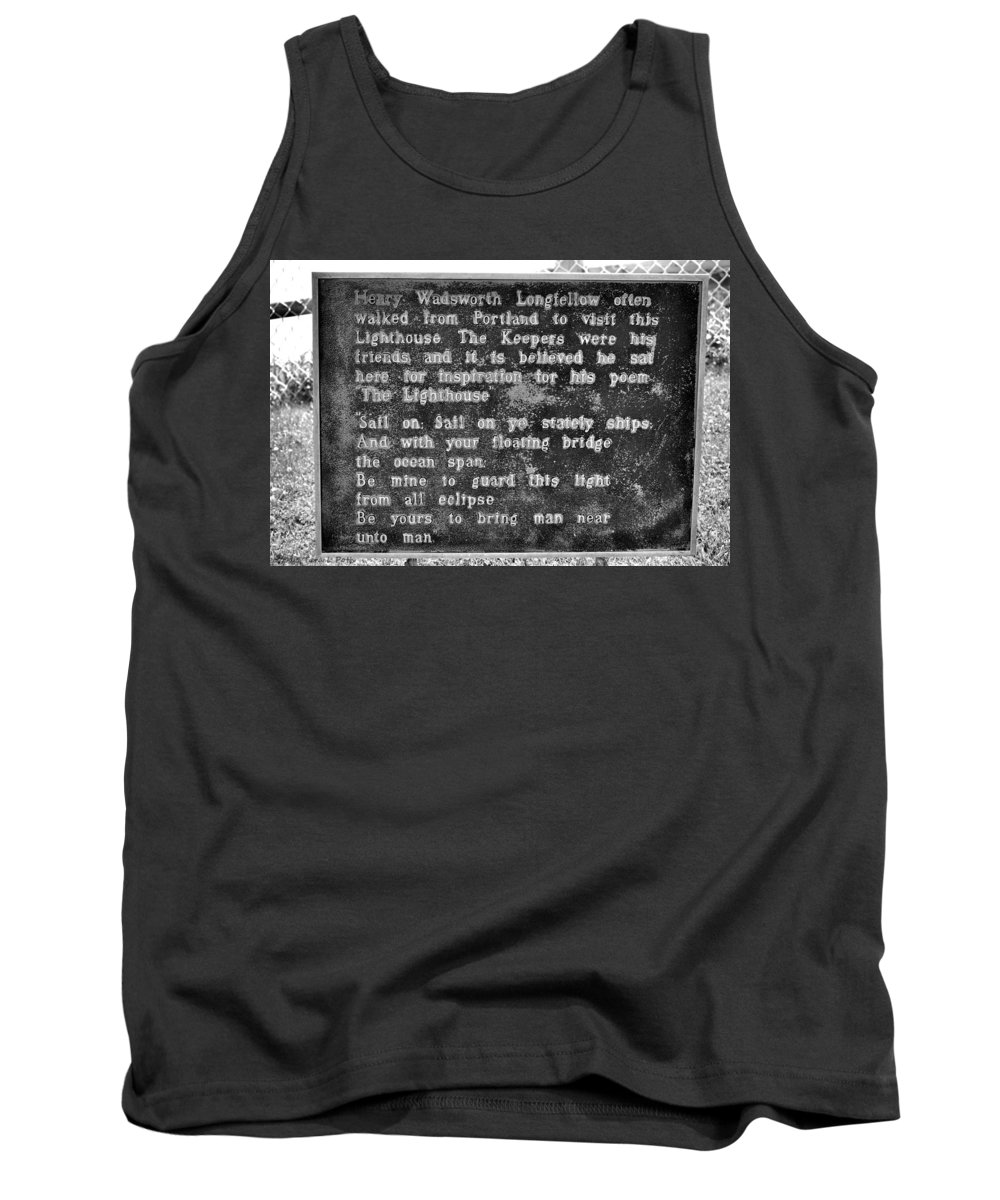 The Lighthouse Poem Tank Top featuring the photograph The Lighthouse Poem by Tara Potts