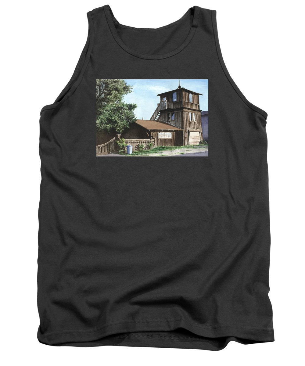 Capitola Tank Top featuring the painting The Lund House by James Robertson