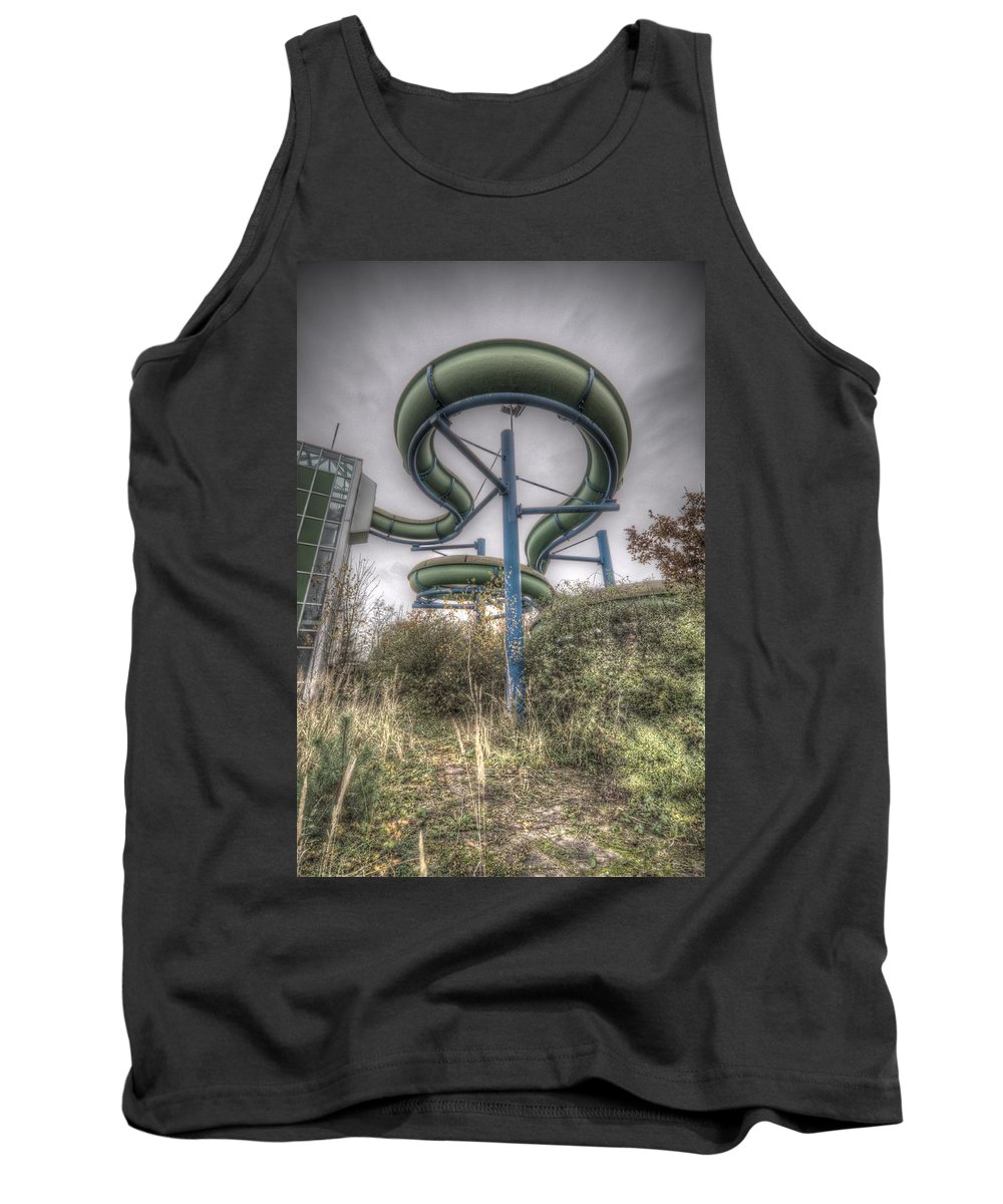 Urbex Germany Spar Tank Top featuring the digital art The Main Slide by Nathan Wright