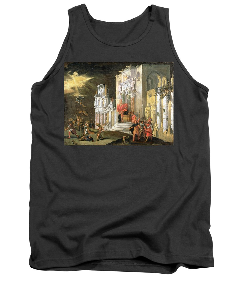 Martyr Tank Top featuring the painting The Martyrdom Of St. Catherine, 17th by Monsu Desiderio