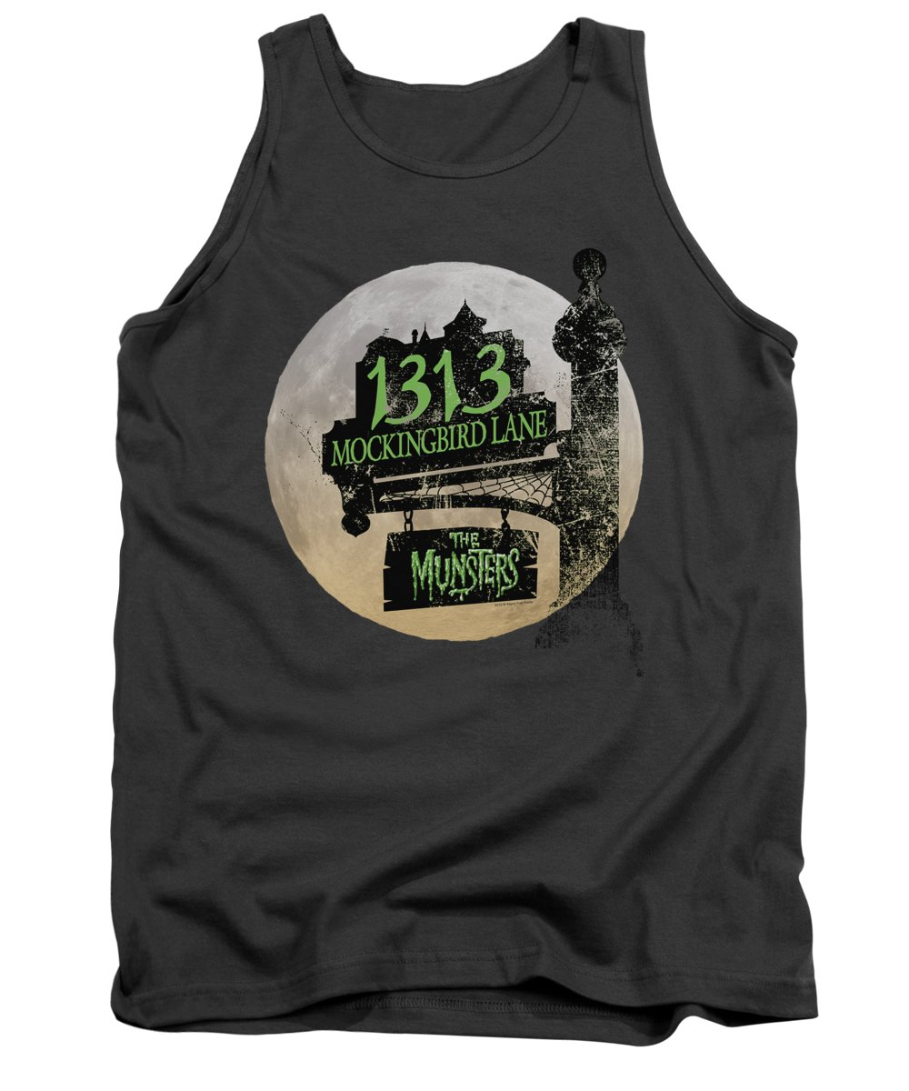 The Munsters Tank Top featuring the digital art The Munsters - Moonlit Address by Brand A