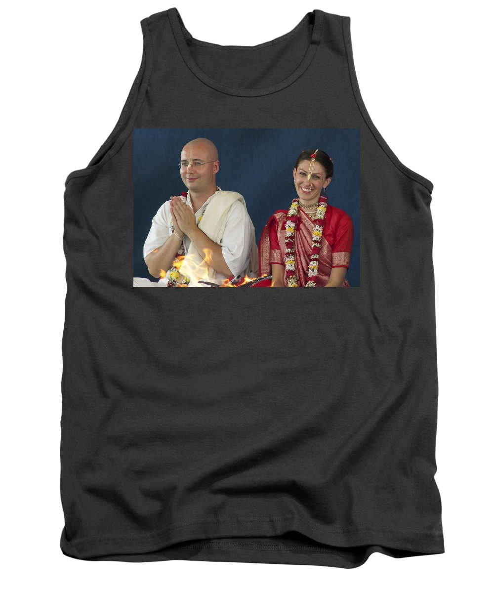 Bride Tank Top featuring the photograph The Newly Married Couple by Daniel Csoka