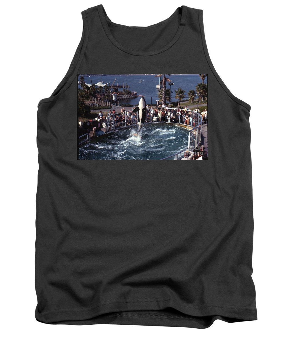 Original Tank Top featuring the photograph The Original Shamu Orca Sea World San Diego 1967 by California Views Archives Mr Pat Hathaway Archives