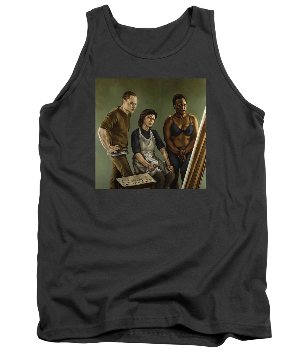 Painting Tank Top featuring the painting The Painting by Jolante Hesse