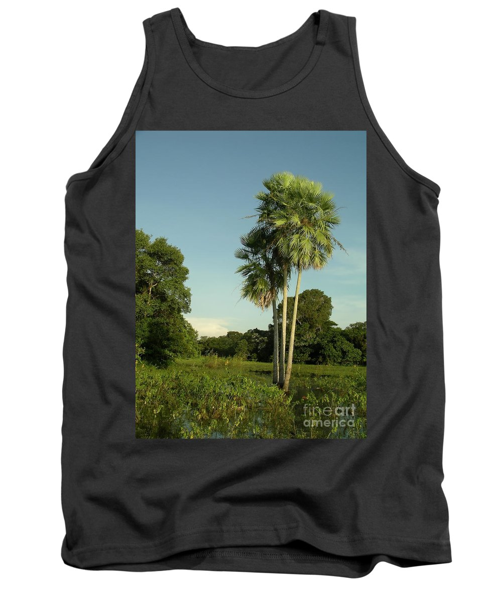 Brazil Tank Top featuring the digital art The Pantanal by Carol Ailles