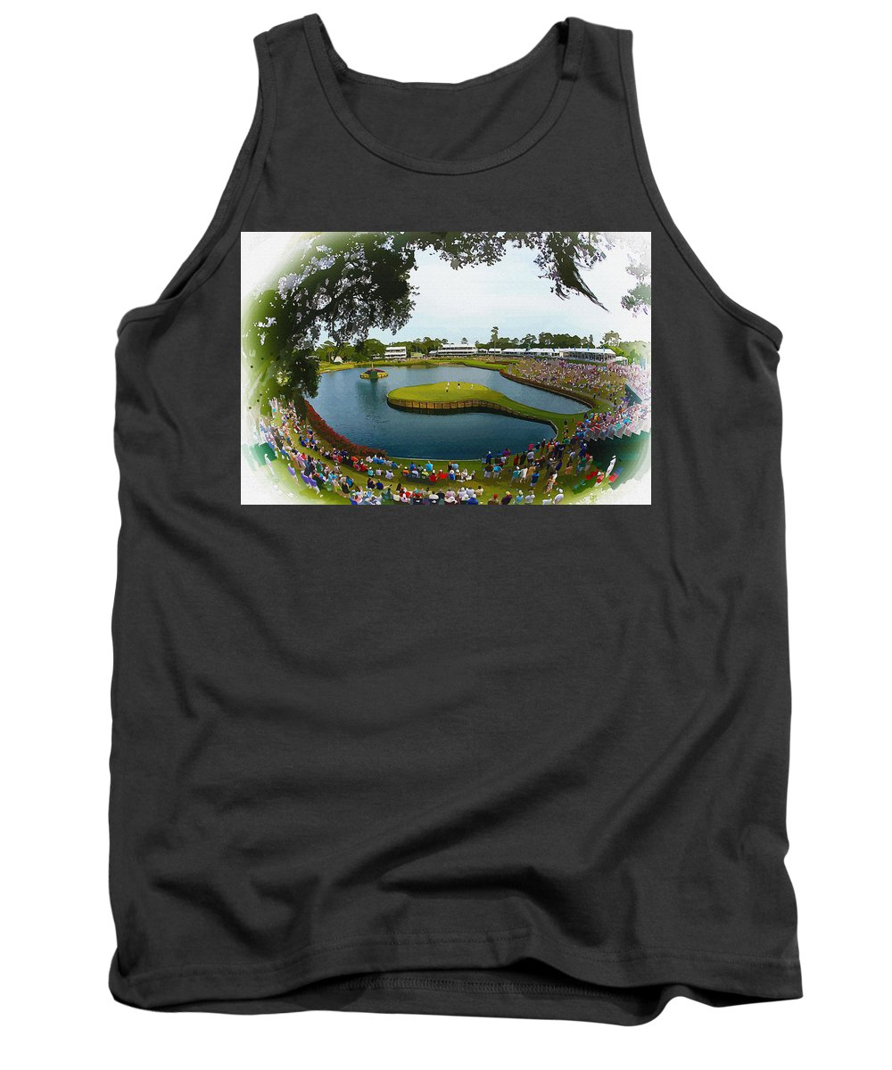 Canada Tank Top featuring the digital art The Players Championship 2014 by Don Kuing
