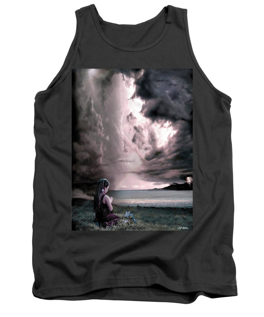 Children Tank Top featuring the mixed media The Prayer by Bill Stephens