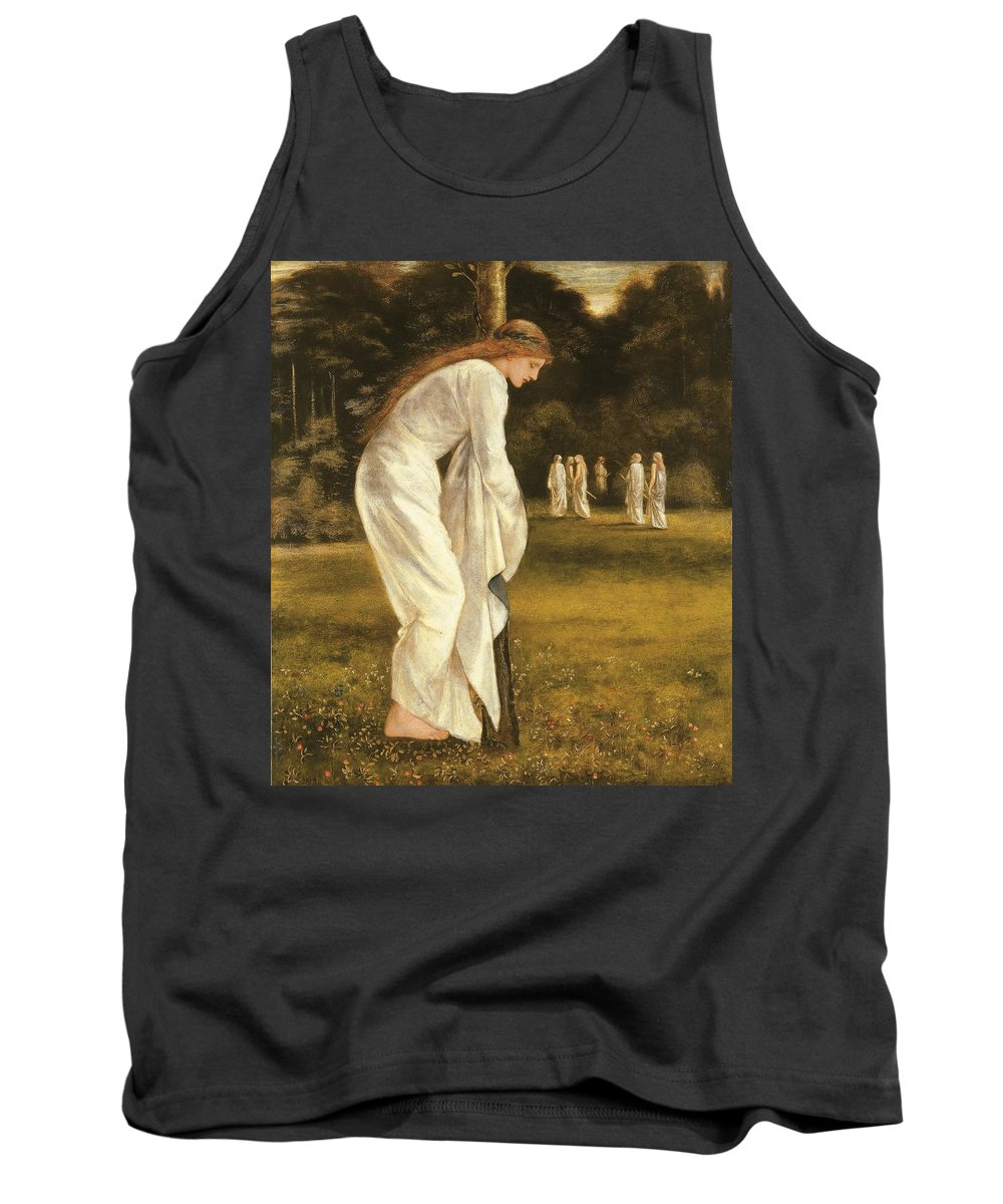 Princess Tank Top featuring the painting The Princess Tied To A Tree by Sir Edward Coley Burne-Jones