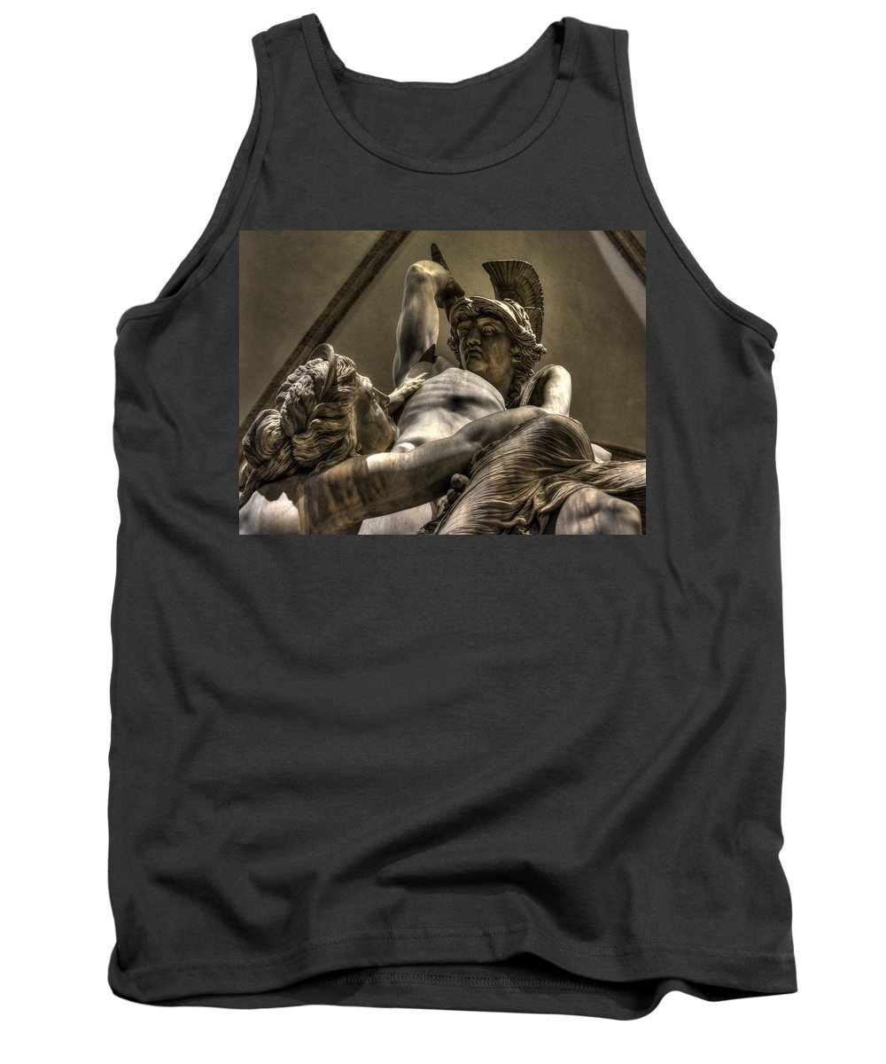 Polyxena Tank Top featuring the photograph The Rape Of Polyxena by Michael Kirk