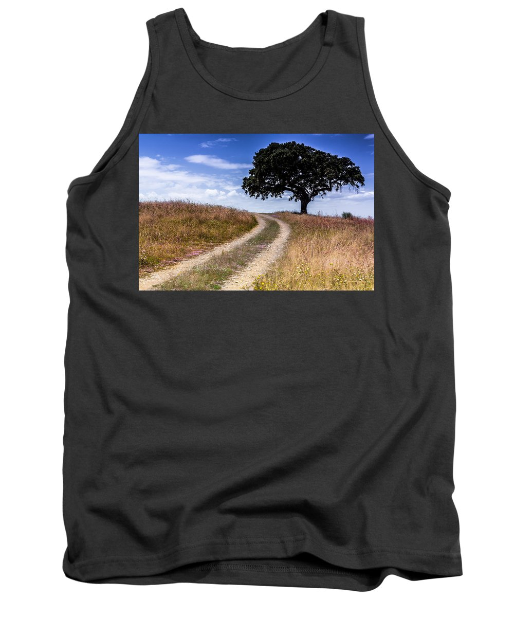 Alentejo Tank Top featuring the photograph The Right Way by Edgar Laureano