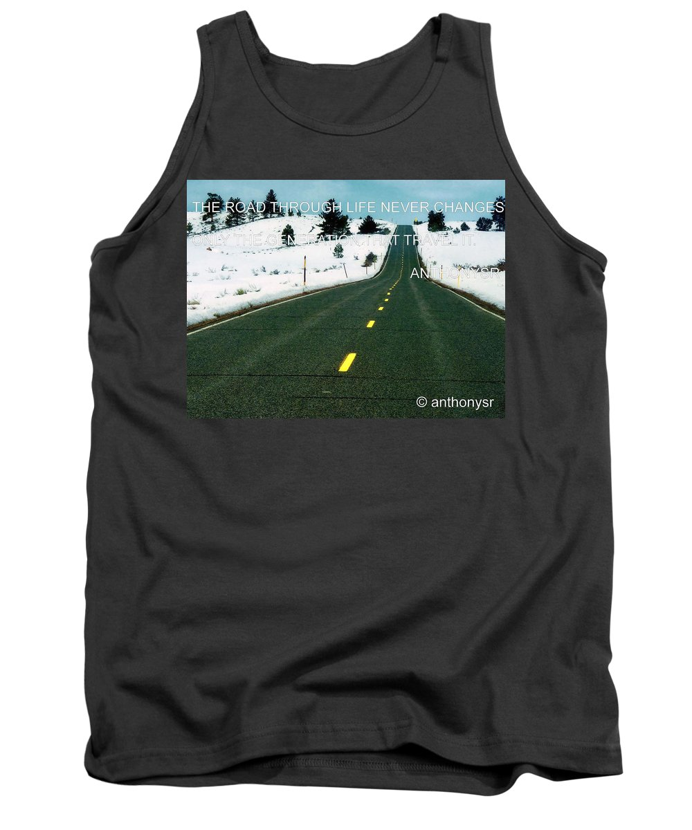 Tank Top featuring the photograph The Road Travel by Anthony Walker Sr