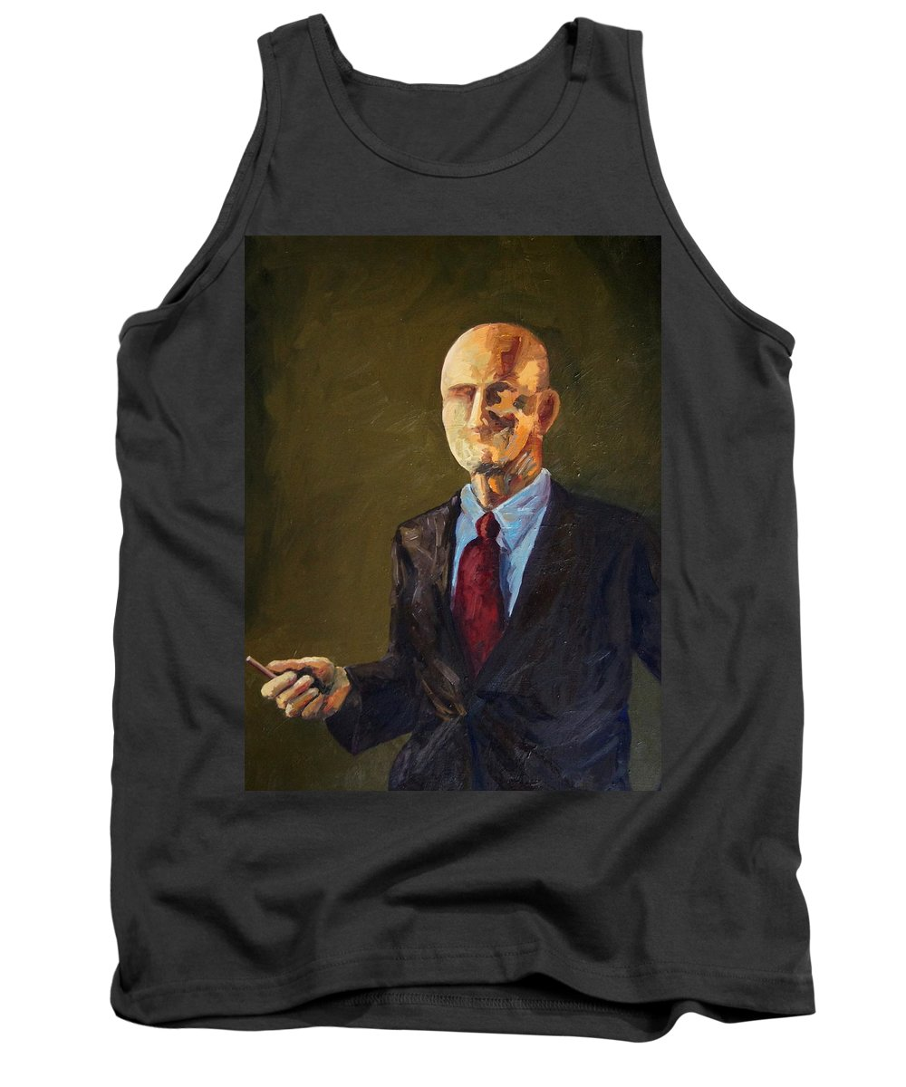 Scientist Tank Top featuring the painting The Scientist by Mary Haas