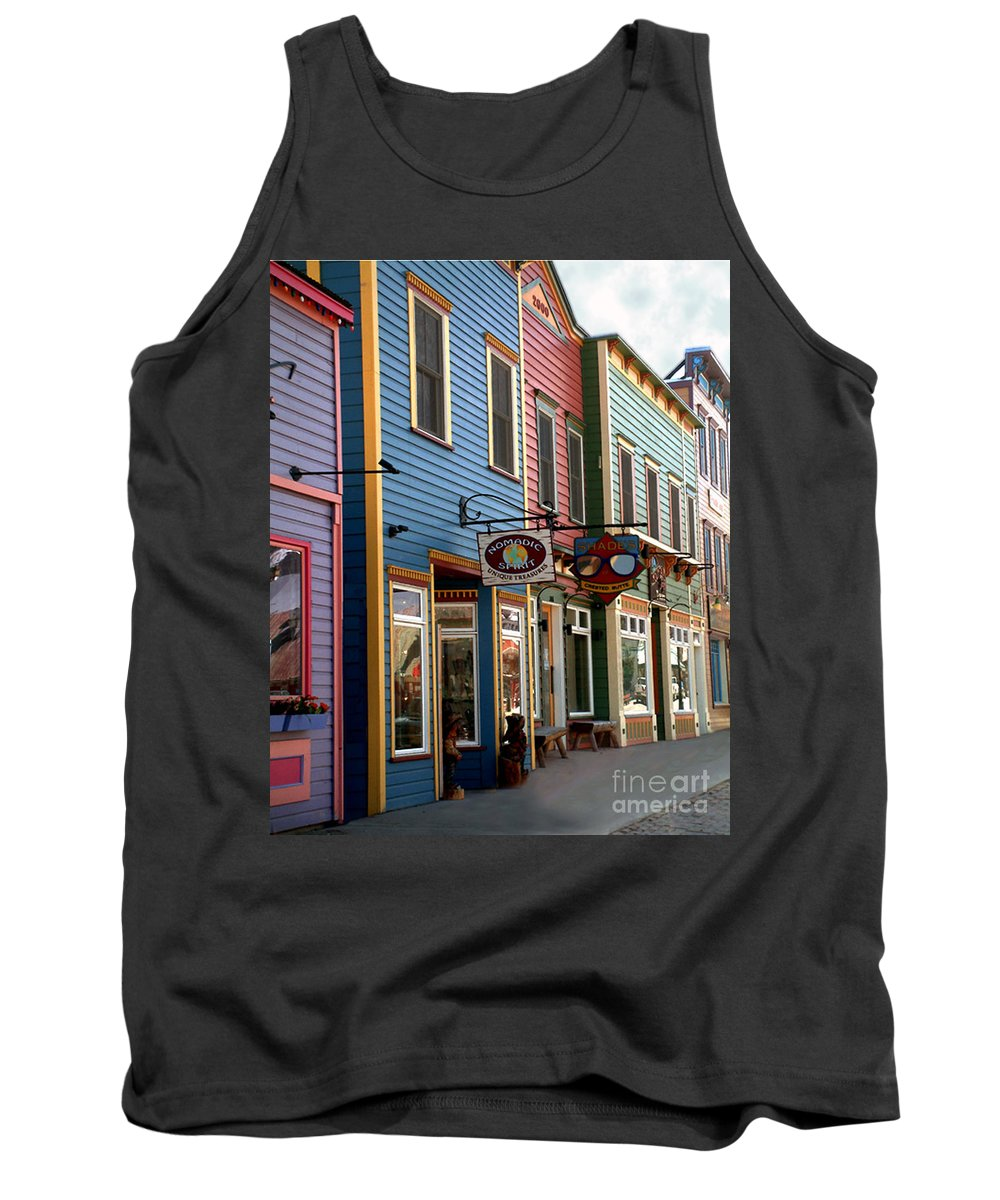 Landscape Tank Top featuring the photograph The Shops In Crested Butte by RC DeWinter