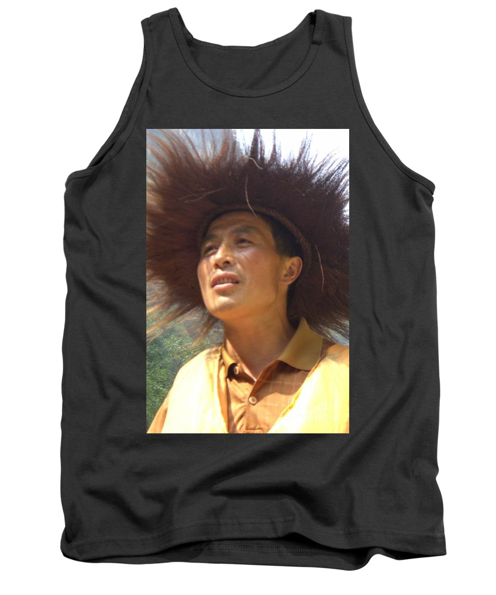 Portrait Tank Top featuring the photograph The Singing Boatman by Barbie Corbett-Newmin
