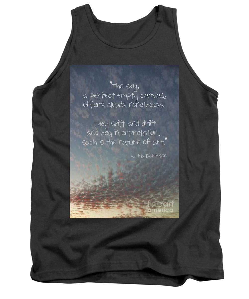 Relaxing Tank Top featuring the photograph The Sky by Peggy Hughes