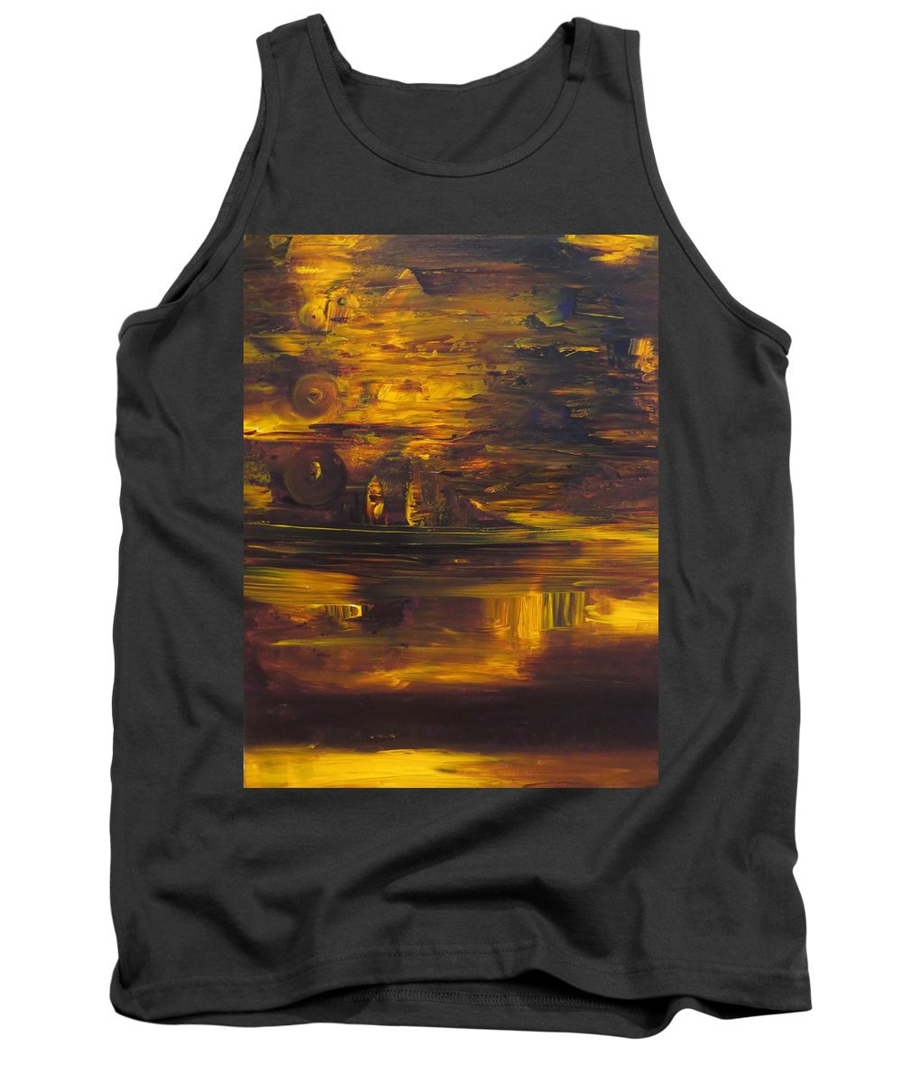 Abstract Tank Top featuring the painting The Smile by Soraya Silvestri