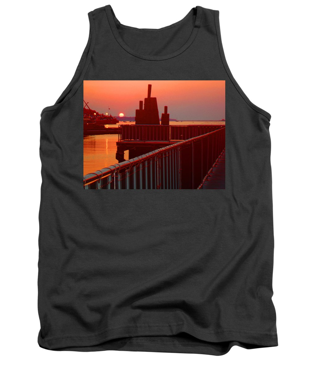 Seascape Tank Top featuring the photograph The Sun The Sound And The Sky by Del Gaizo
