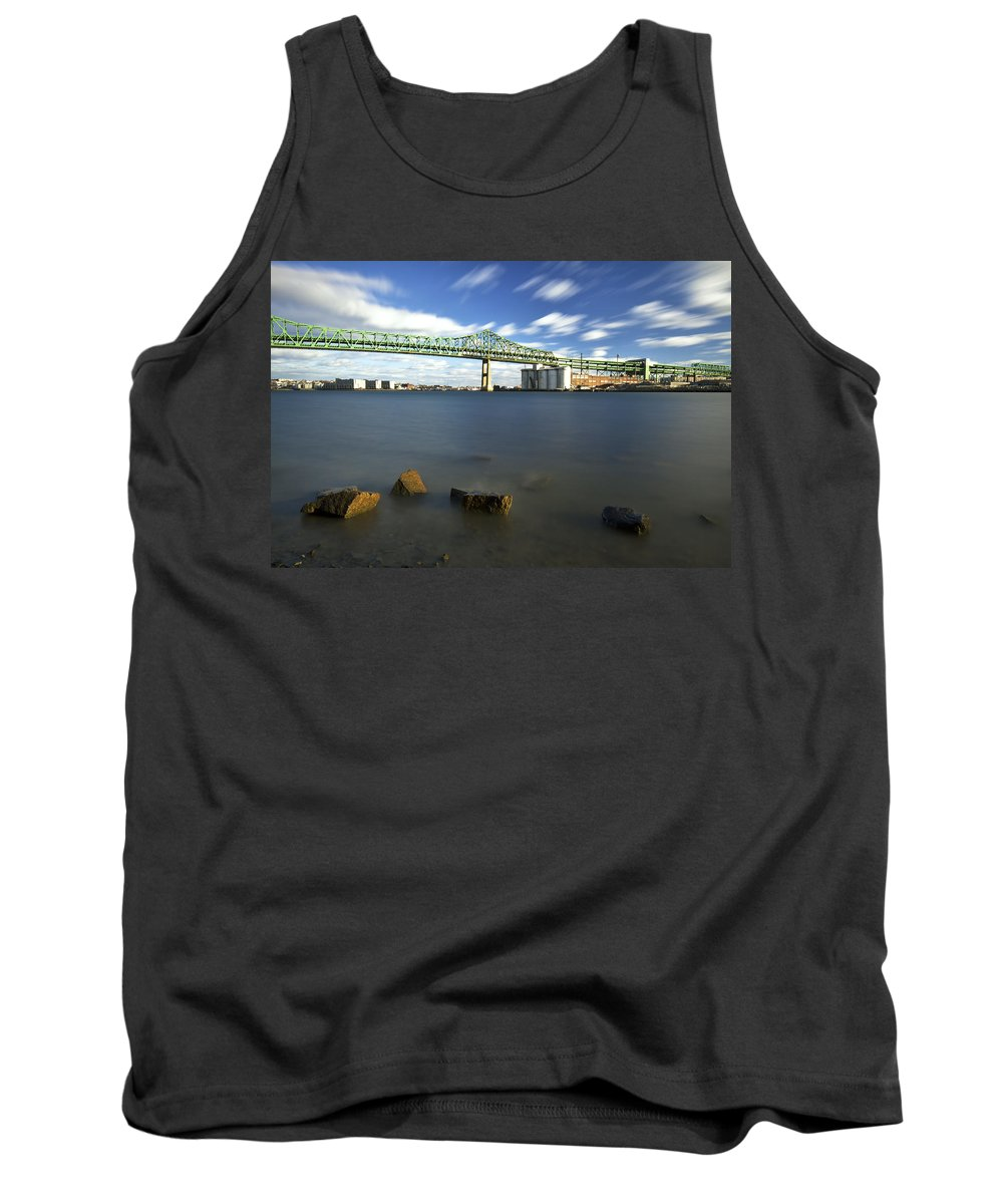 Tobin Bridge Tank Top featuring the photograph The Tobin by Eric Gendron