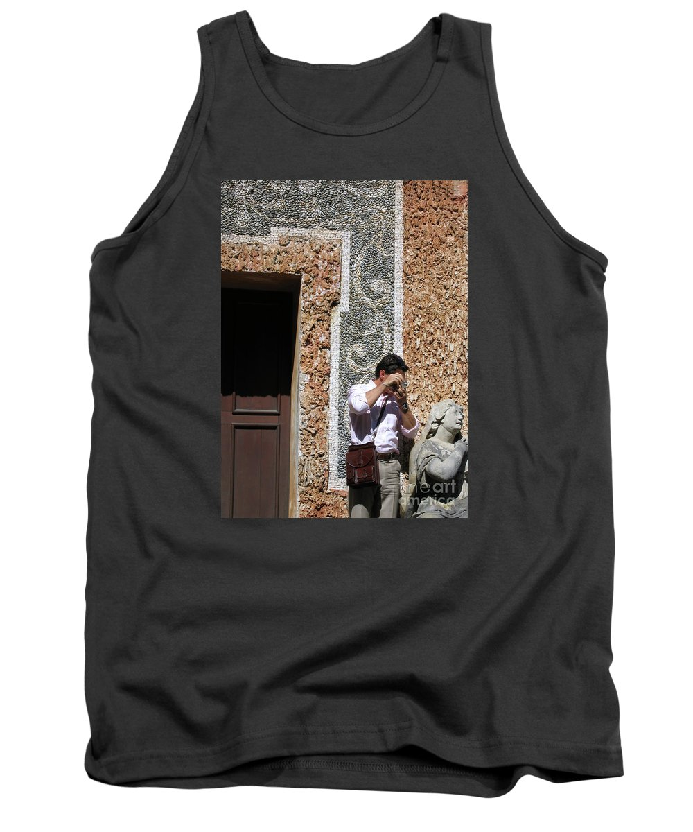 Austria Tank Top featuring the photograph The Tourist And His Lady by Ann Horn