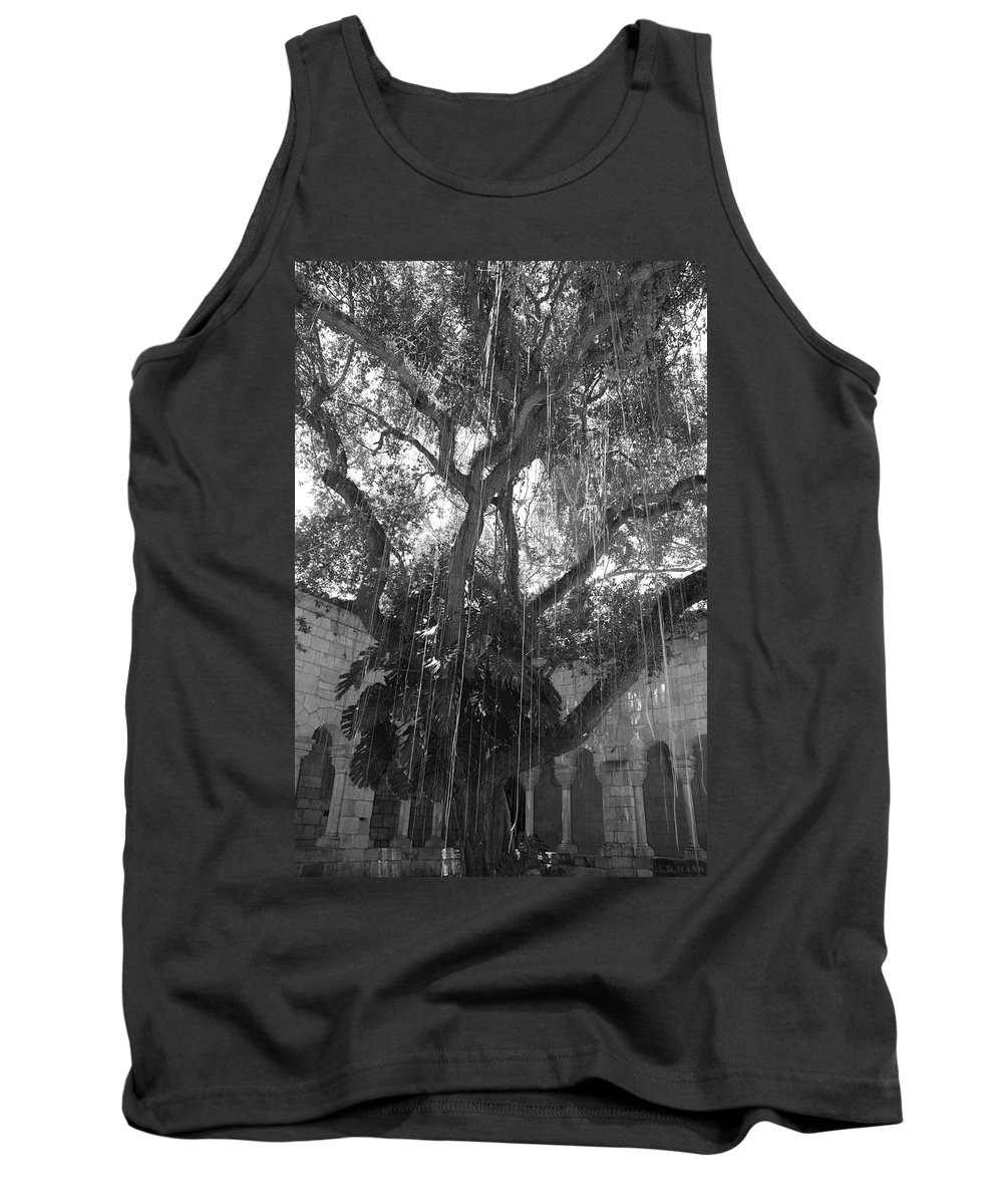 Black And White Tank Top featuring the photograph The Tree Vines by Rob Hans